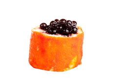 Cakes in the form of Japanese sushi isolated Royalty Free Stock Photo