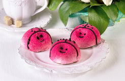 Cakes in the form of a ladybug Stock Image