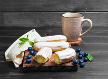 Cakes French eclairs Royalty Free Stock Images