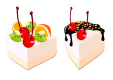 Cakes with fruit Stock Photo