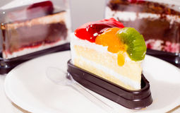 Cakes fruits Stock Images