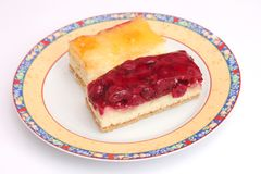 Cakes with fruits Stock Image