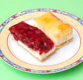 Cakes with fruits Stock Photos