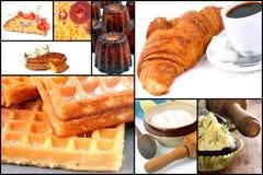 Cakes, gebakjes van Frankrijk stock fotografie