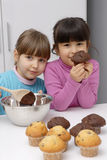 Cakes girls. Stock Images