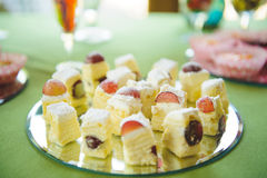 Cakes with Grape Stock Photos