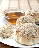 Cakes with honey and walnuts Stock Images