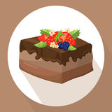 Cakes icon template on white background Vector illustration Royalty Free Stock Photography