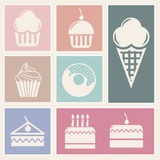 Cakes icons Royalty Free Stock Photo