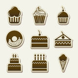 Cakes icons Stock Photo