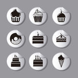 Cakes icons Stock Image