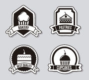 Cakes icons Royalty Free Stock Photos