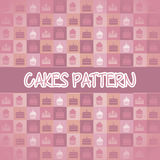 Cakes icons Royalty Free Stock Images