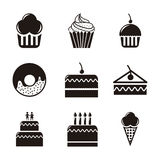 Cakes icons Royalty Free Stock Photography