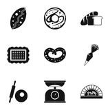 Cakes icons set, simple style Stock Image