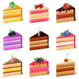 Cakes icons vector set Stock Images