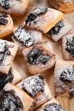 Cakes with jam and icing sugar Royalty Free Stock Photography