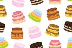 cakes mönsan seamless Fotografering för Bildbyråer
