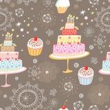 cakes mönsan seamless Royaltyfria Bilder