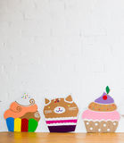 Cakes made ��of paper on white background Royalty Free Stock Photo