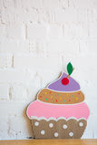 Cakes made of paper on white background Stock Photos