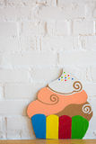 Cakes made ​​of paper on white background Stock Photos