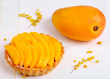 Cakes with mango Royalty Free Stock Image