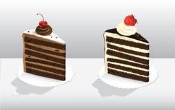 Cakes med bär Arkivfoton
