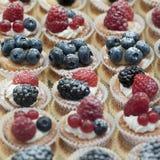 Cakes med bär Arkivbilder