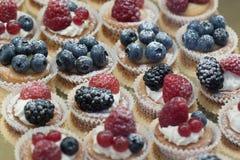 Cakes med bär Royaltyfria Bilder