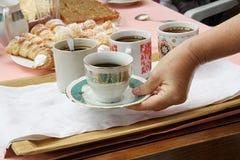 Cakes met coffe Stock Foto