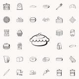cakes met kersenpictogram Voor Web wordt geplaatst dat en mobiel de pictogrammenalgemeen begrip van de bakkerijwinkel royalty-vrije illustratie