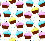 Cakes met kleurrijk suikerglazuur Stock Fotografie