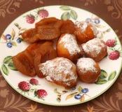Cakes met pruimen Stock Foto