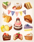 Cakes nd pies Stock Photo
