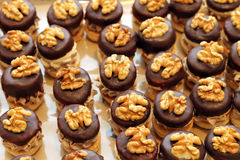 Cakes with nuts Stock Photography