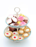 Cakes On A Cake Stand Stock Photo