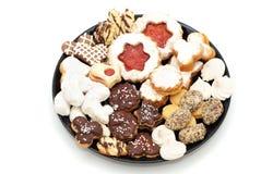 Cakes op een plaat Stock Afbeeldingen