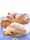 Cakes op Plaat Royalty-vrije Stock Foto's