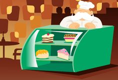 Cakes, Pastries and More stock illustration