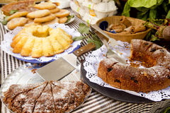 Cakes pastry sweets Mediterranean bakery Balearic Stock Photos