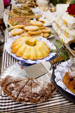 Cakes pastry sweets Mediterranean bakery Balearic Royalty Free Stock Images