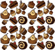 Cakes pattern Royalty Free Stock Images