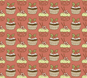 Cakes pattern Royalty Free Stock Image