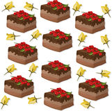 Cakes pattern on white background Vector illustration. S Royalty Free Stock Photography