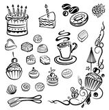 Cakes, pie, praline Royalty Free Stock Photo