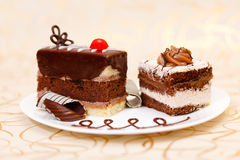 Cakes on plate Stock Image