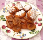 Cakes with plums Stock Photos