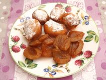 Cakes with plums Royalty Free Stock Photo