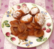 Cakes with plums. Some little cakes with plums Stock Photo